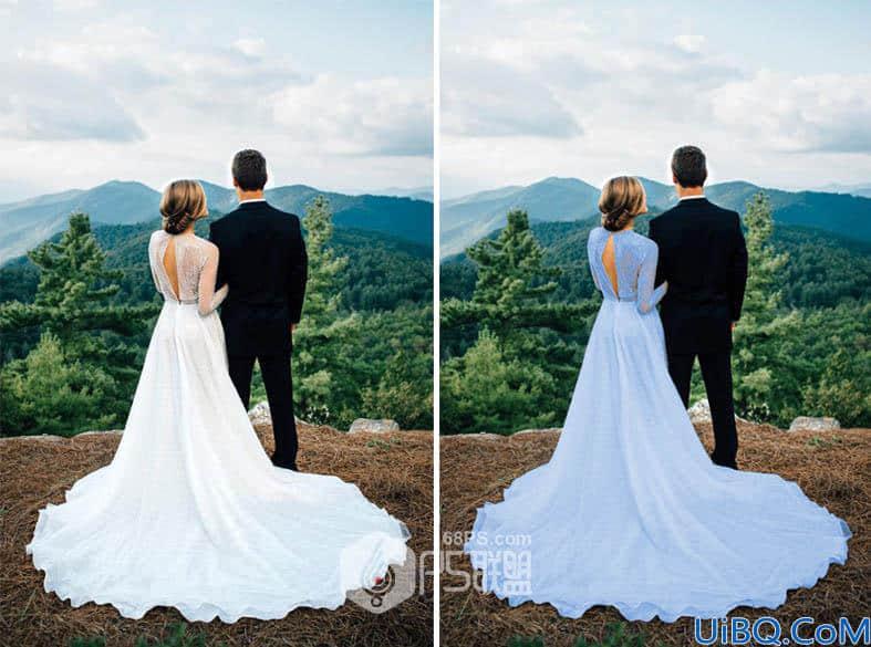利用photoshop中的通道快速把白色变换成其它颜色