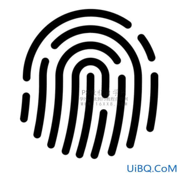 图标制作,制作形象的手指指纹图标