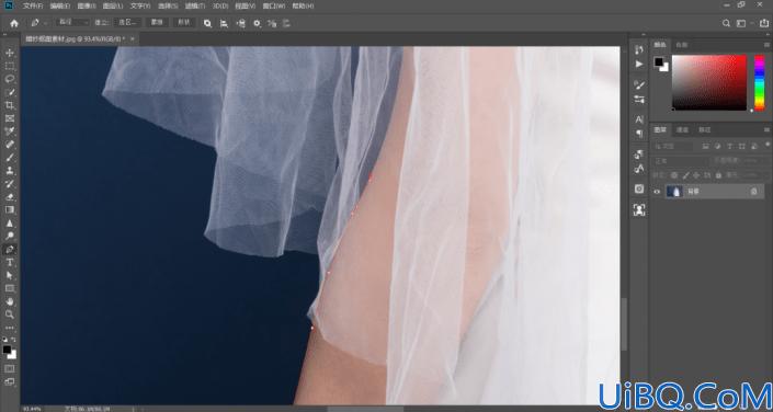 婚纱抠图,在Photoshop里抠图有透明度的婚纱