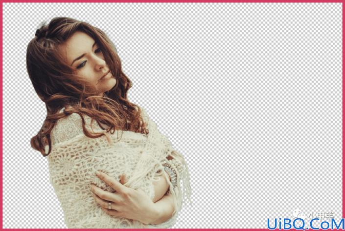 抠卷发,在Photoshop中抠出身着披风的卷发女性
