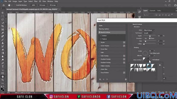 浮雕字,在Photoshop中制作逼真的木板上的浮雕字