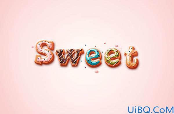 立体字,通过Photoshop设计精美的甜品立体奶油字