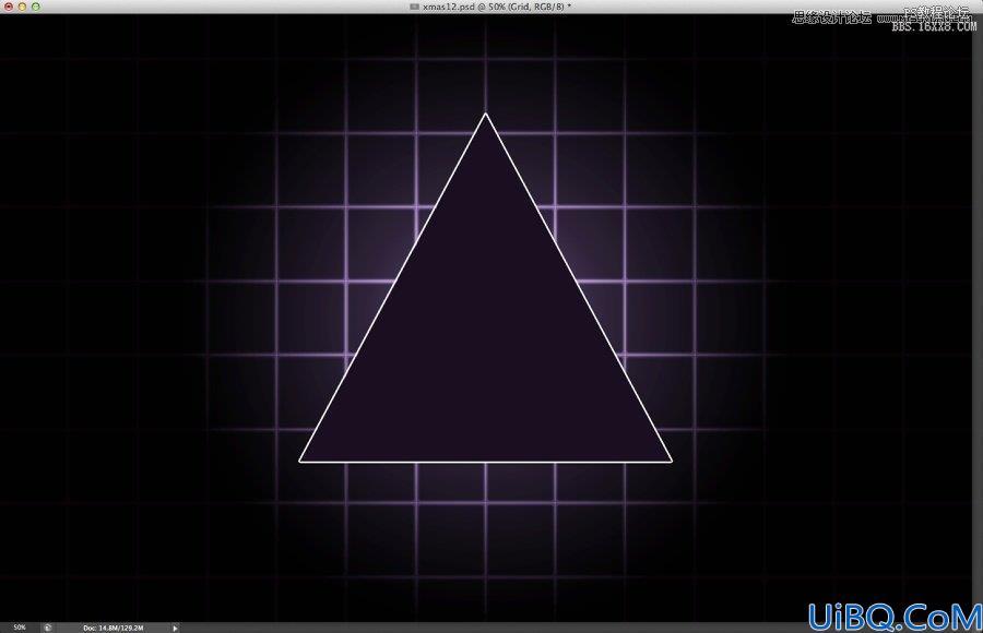 Photoshop设计紫色圣诞霓虹灯字