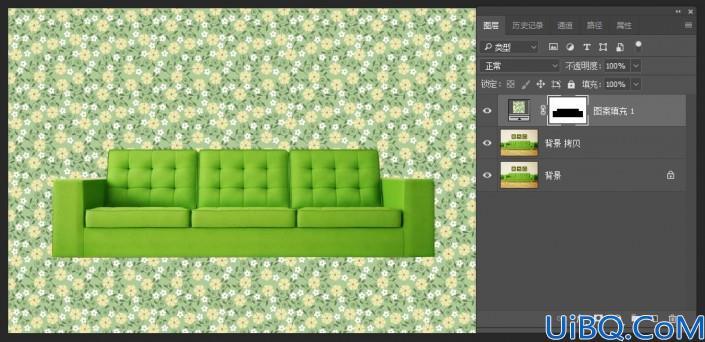 Photoshop图形绘制教程:利用图层混合模式制作画布沙发,布艺沙发图形。
