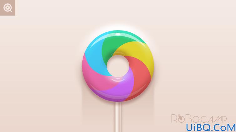 Photoshop手绘彩色质感的棒棒糖失量图素材,立体棒棒糖。