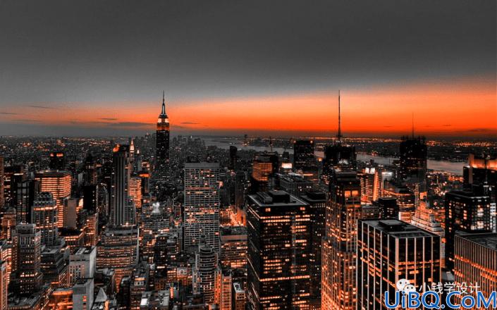 黑金风格,打造一幅黑金夜色效果照片