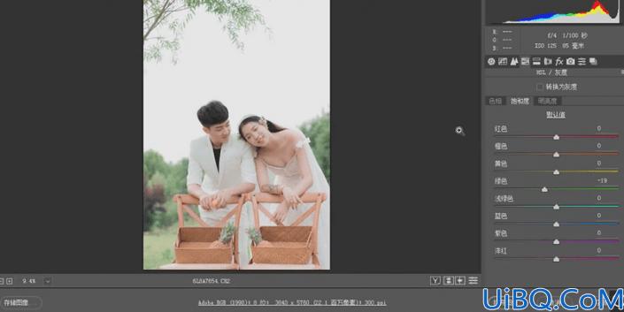 婚纱后期,制作小清新风格的婚纱人像