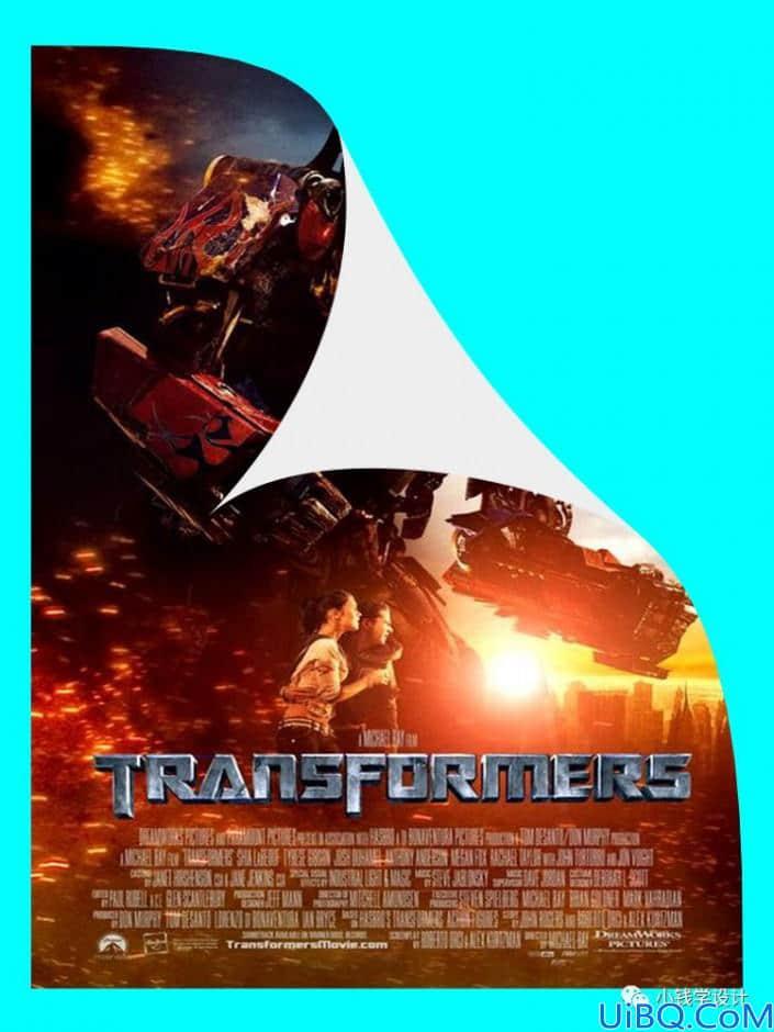 海报设计,设计一款变形金刚翘边电影海报