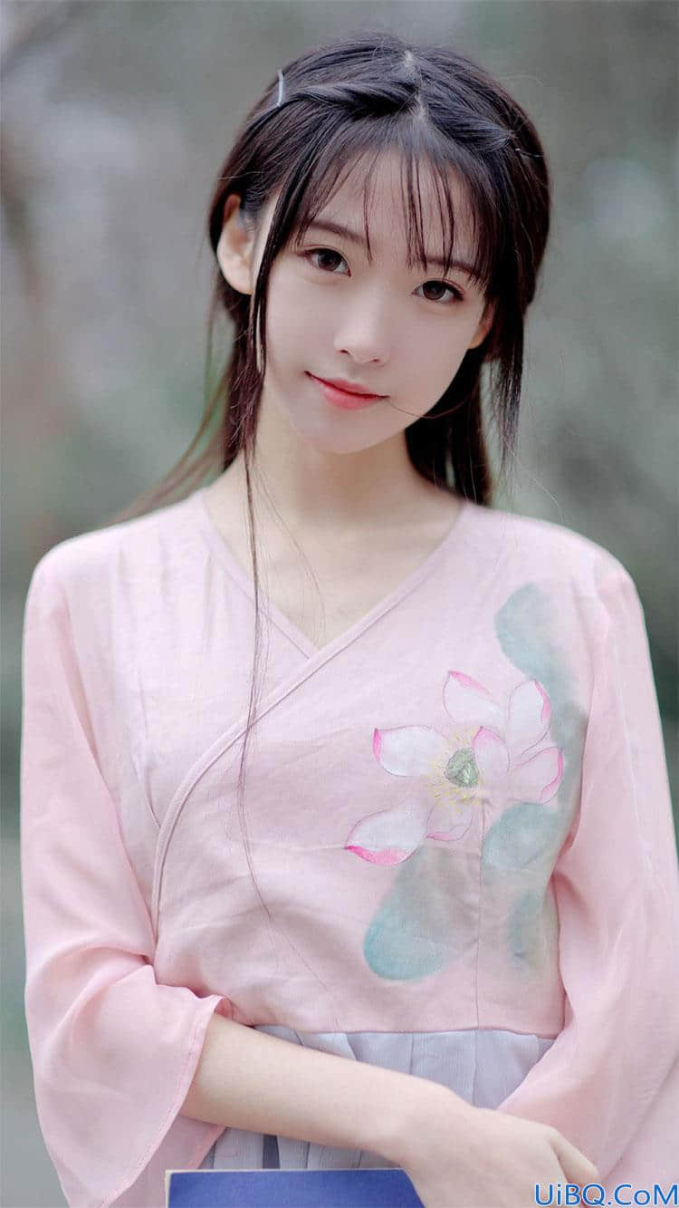 Photoshop给仙气少女古装照制作成工笔画效果,美女变成工笔画。