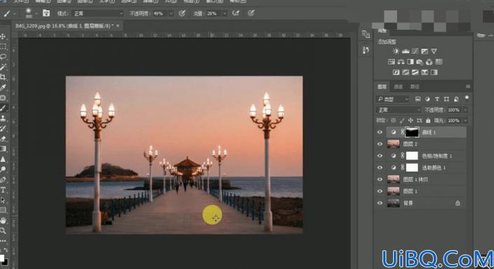 夜景调色,给城市风光照片营造一种落日晚霞效果
