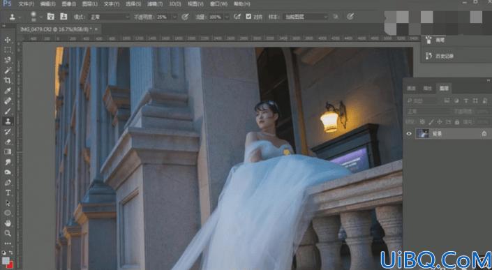 婚纱人像,把室外婚纱照片调出唯美梦幻感