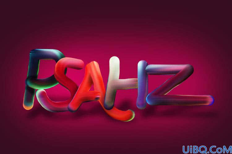 Photoshop文字设计教程:制作个性的彩色拉丝效果立体文字,特效艺术文字