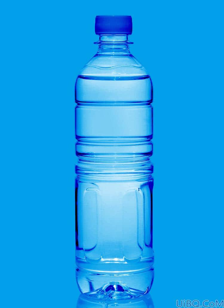 利用Photoshop快速选择工具蒙版及图层的混合模式抠出透明的矿泉水瓶