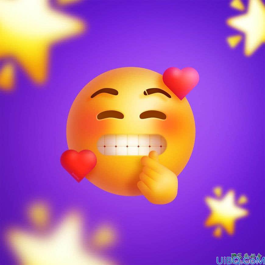Photoshop表情图标制作教程:学习绘制立体风格的微笑表情,搞笑表情。