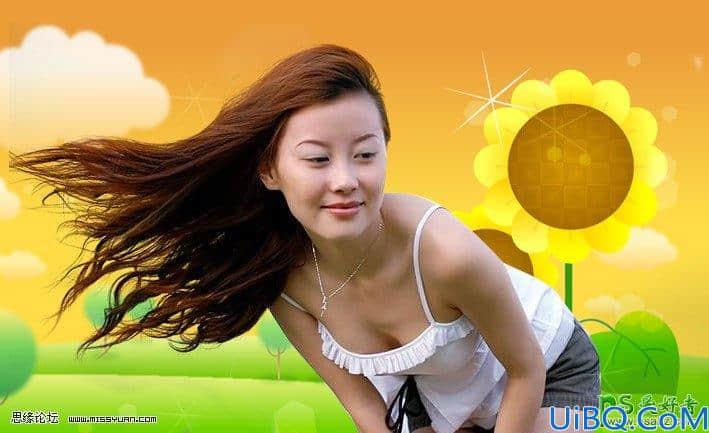 Photoshop美女抠图教程:利用图层方式快速抠出美女飘逸的长发。