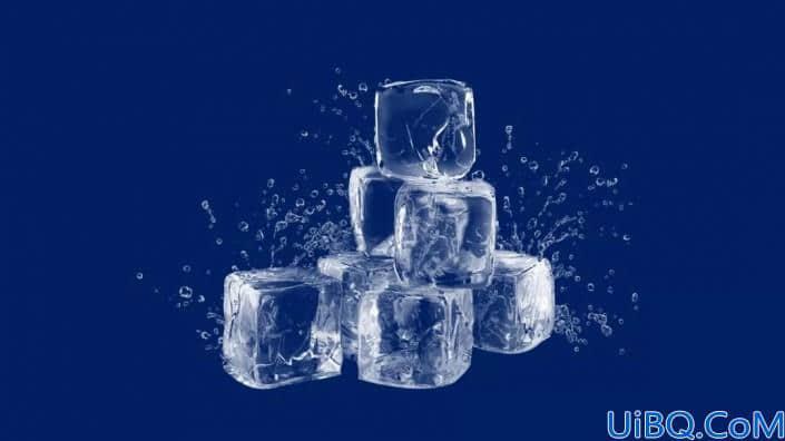 抠冰块,用图层蒙版抠出透明冰块