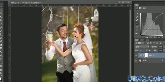 婚纱后期,用Photoshop中的色彩条件给婚纱进行修图