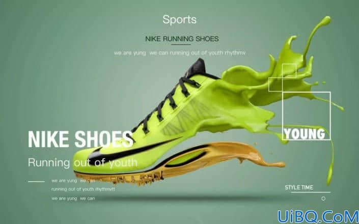 产品修图,运动鞋的创意海报设计