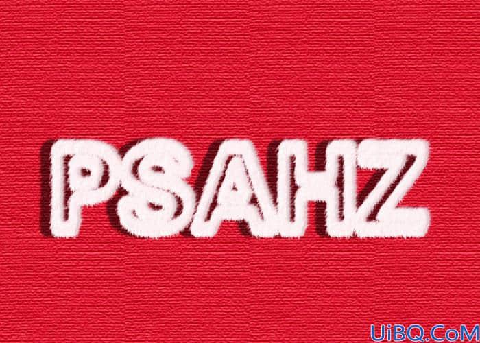Photoshop文字设计:制作毛绒个性文字,漂亮的毛线字体,毛绒字效。
