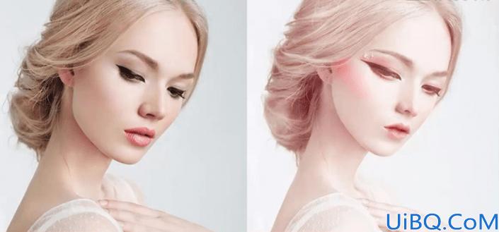 Photoshop转手绘教程:学习给真人美女照片制作成漂亮妩媚的SD娃娃形象。