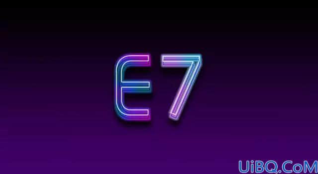 霓虹文字怎么做?利用Photoshop图层样式来制作漂亮的七彩霓虹灯字效。