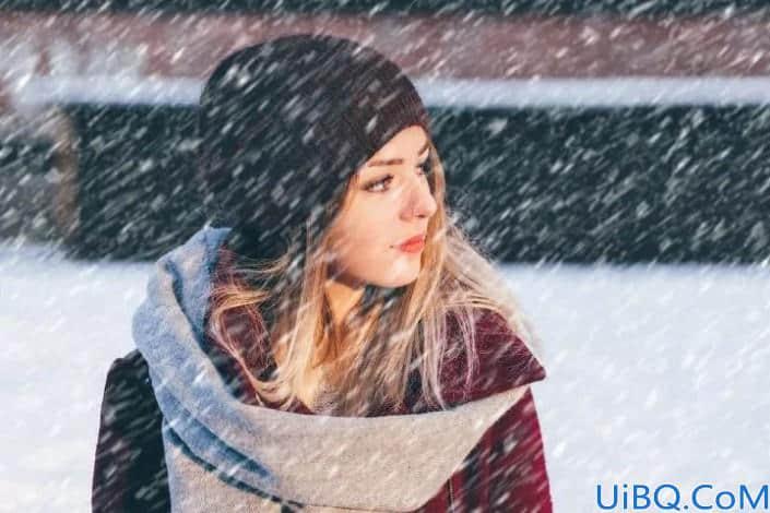 """雪景效果,在Photoshop中制作南方的第一场""""雪"""""""