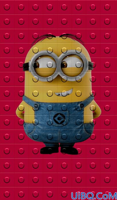 拼图效果,在Photoshop中绘制乐高效果的小黄人拼图